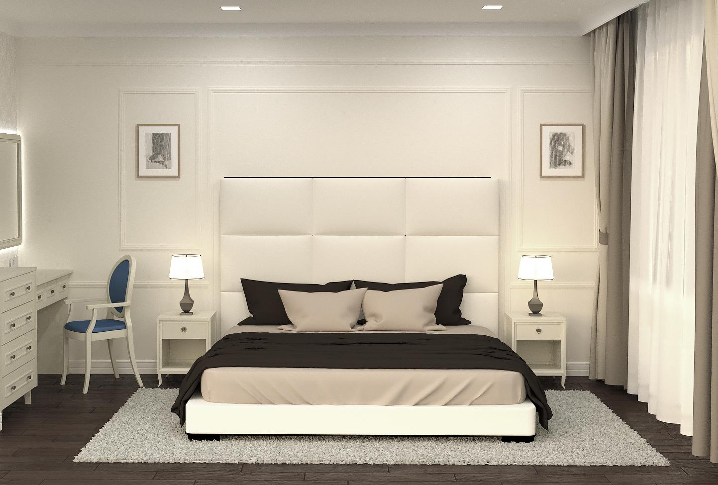Новин дизайн проект современная классика спальня