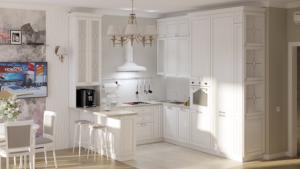 кухня гостиная проект тюмень современная классика