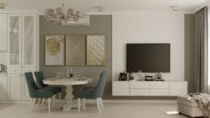Тюмень дизайн проект кухня гостиная Европейский