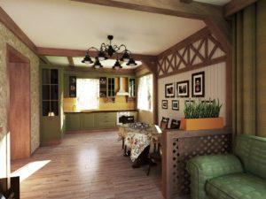 кухня гостиная луговое прованс рустика